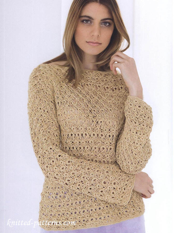 Free Knitting Pattern Lace Pullover
