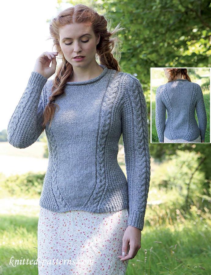 Elegant jumper knitting pattern free