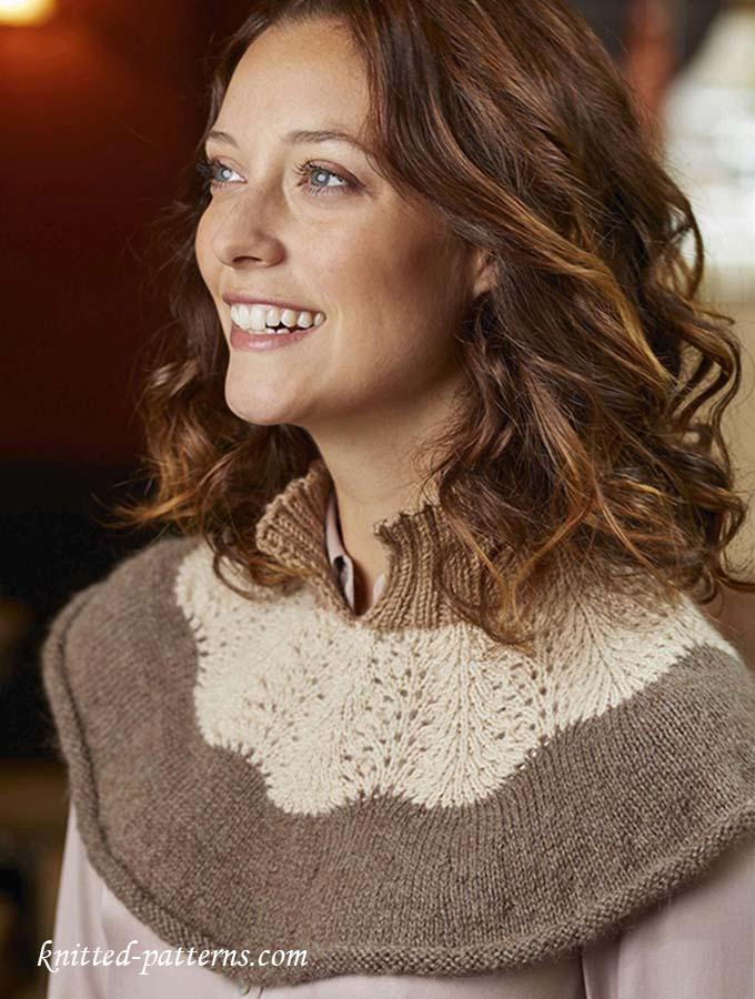 Neck warmer (capelet) knitting pattern free