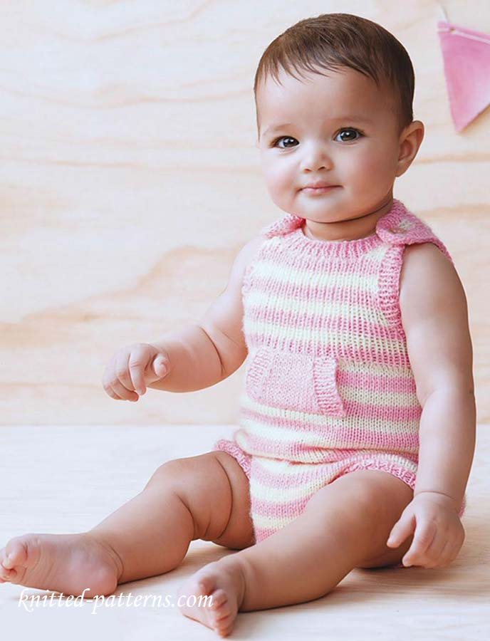 Baby Romper Knitting Pattern Free