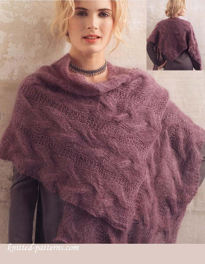 Kid mohair-silk shawl knitting pattern free