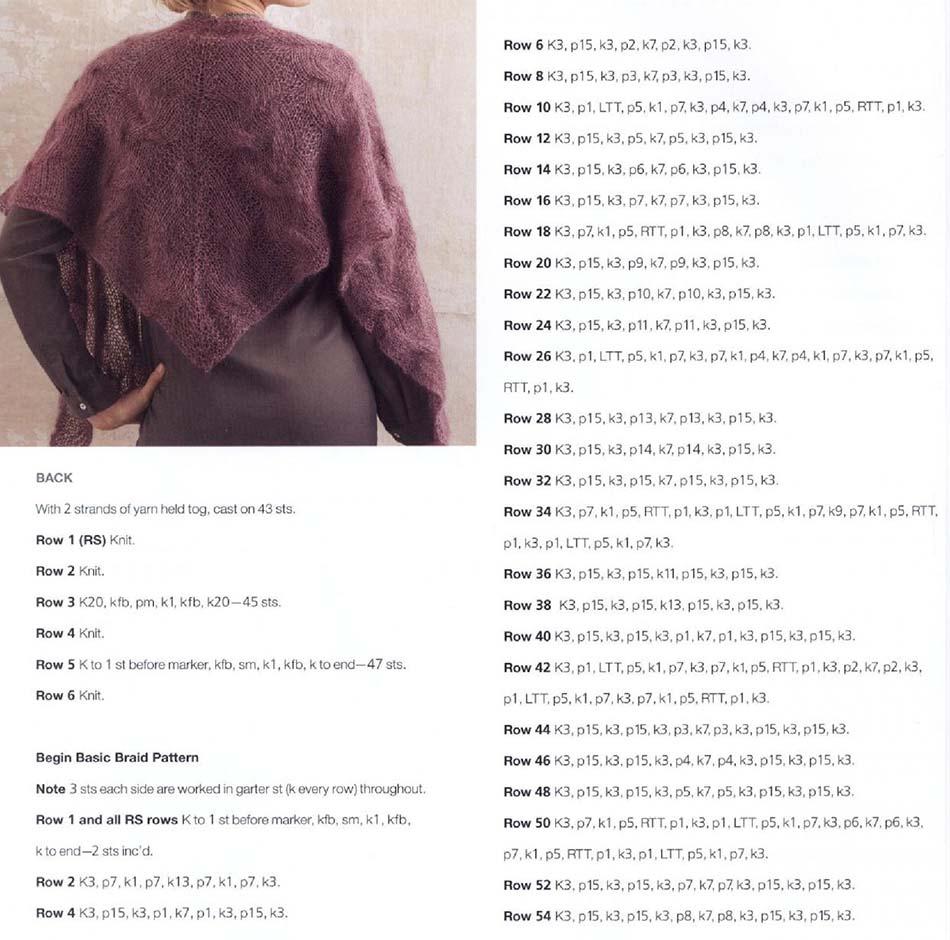 Kid mohair-silk shawl knitting pattern free