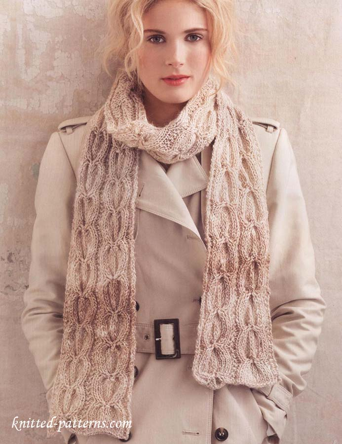 Extra Wide Scarf Knitting Pattern Free