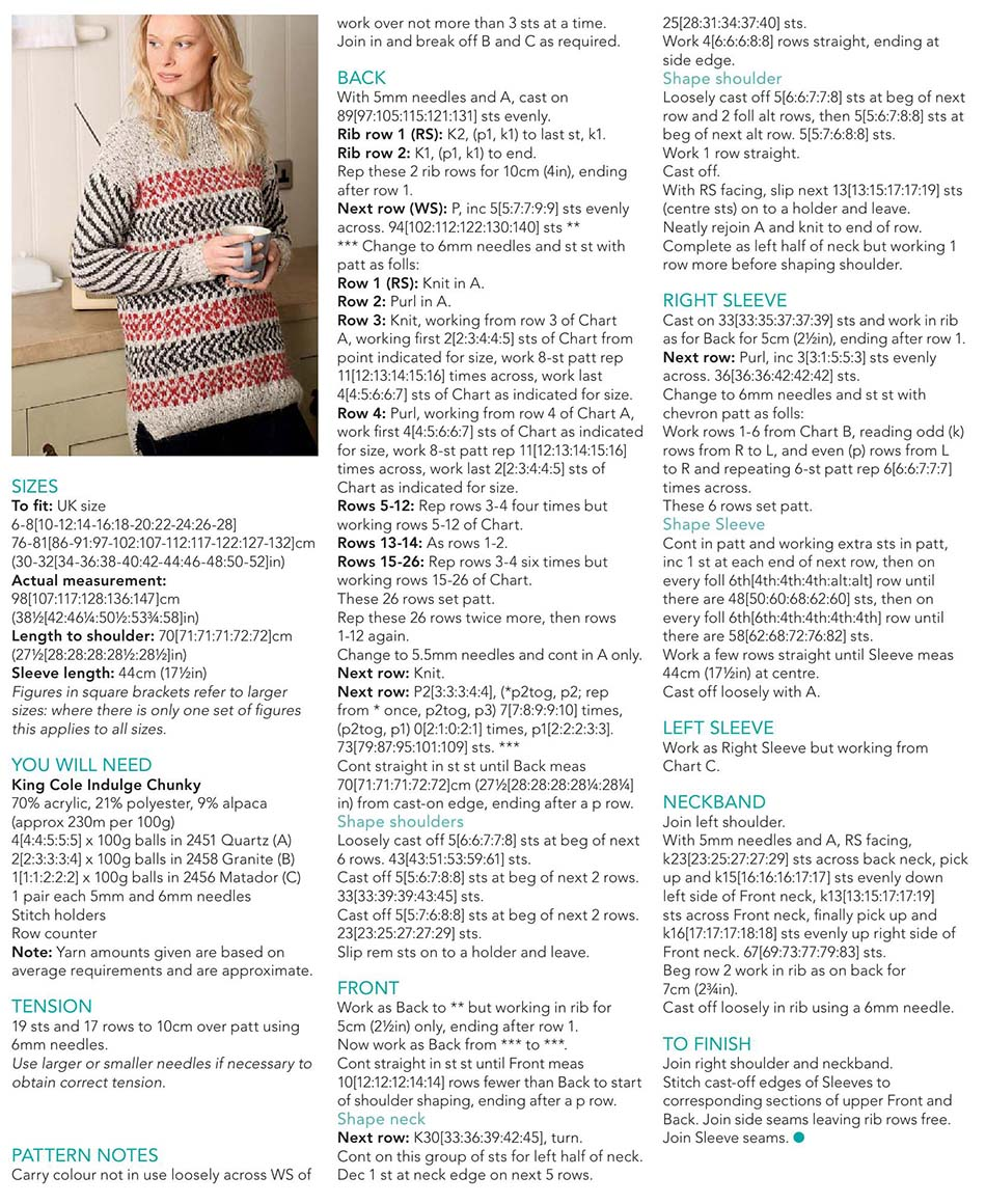 Winter jumper knitting pattern free
