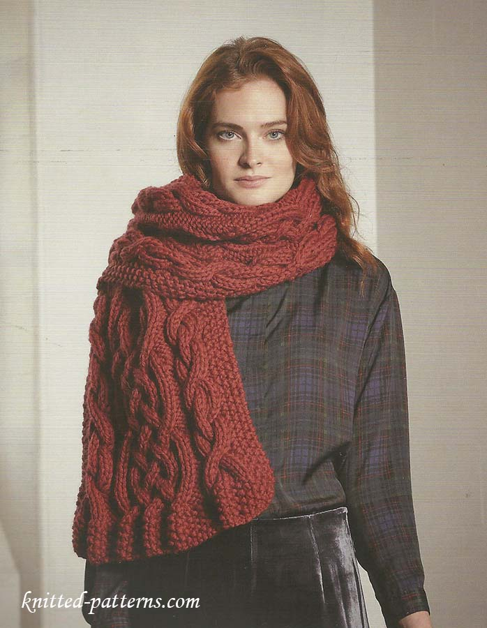 Cable Scarf Knitting Pattern Free