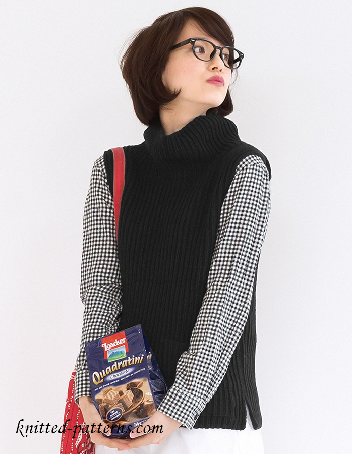 Simple Vest Knitting Pattern Free