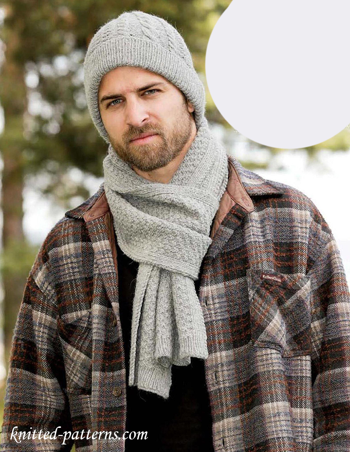Men S Hat And Scarf Knitting Patterns Free