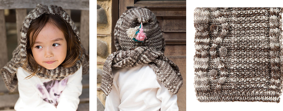 Free Knitting Pattern Hooded Scarf