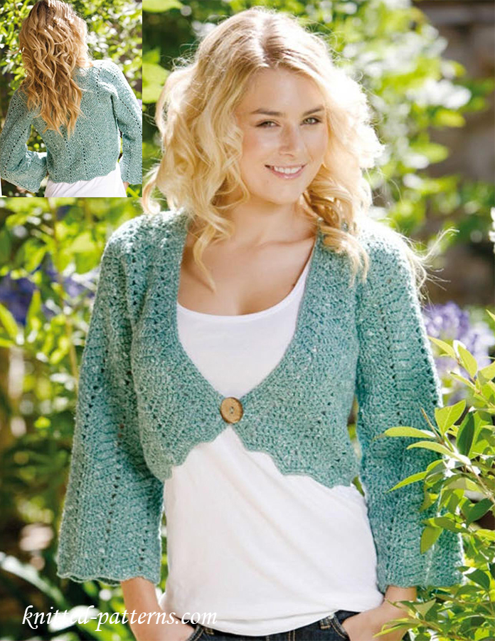 Chevron Bolero Crochet Pattern Free