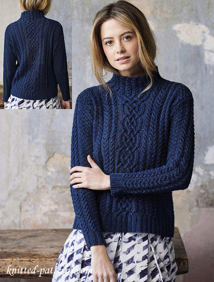 38c10e3bcd6da Cable sweater knitting pattern free
