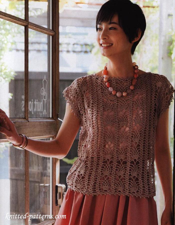 Lace top crochet pattern free