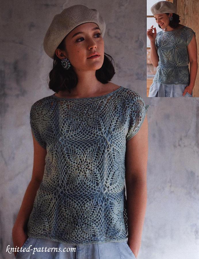 Crochet Motif Top Free Pattern