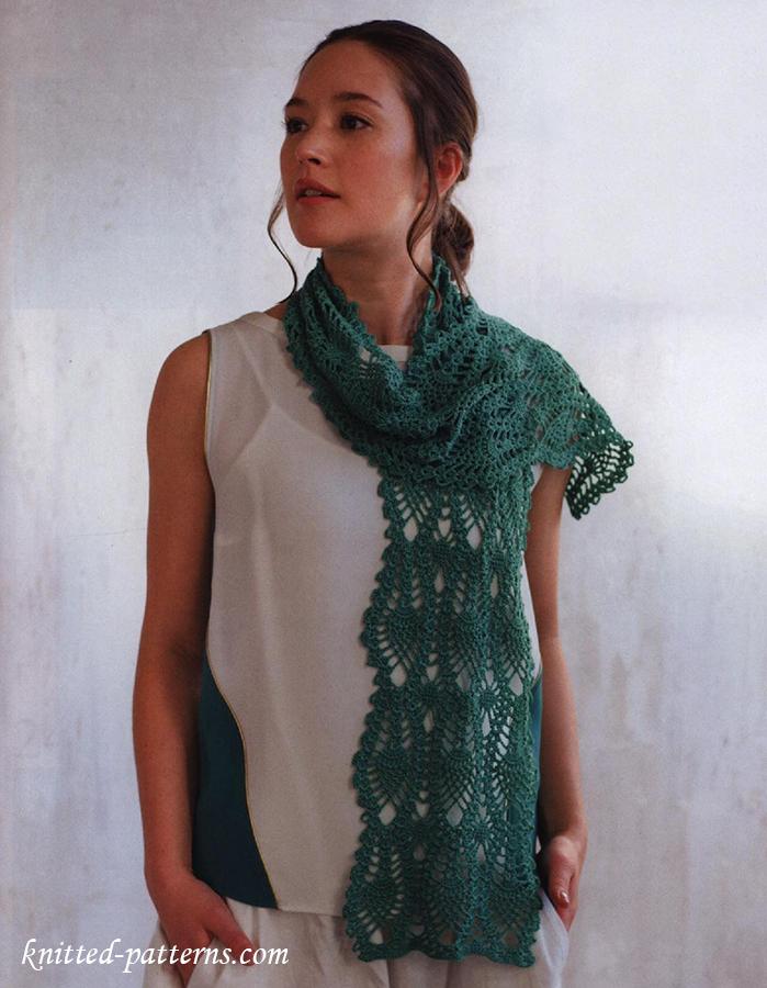 Free Crochet Pattern Lace Scarf