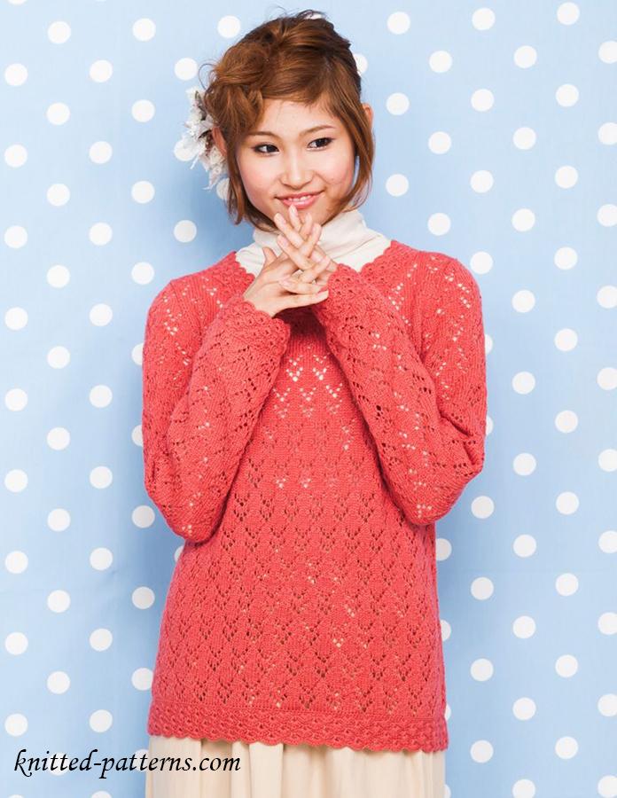 Lace Sweater Knitting Pattern Free