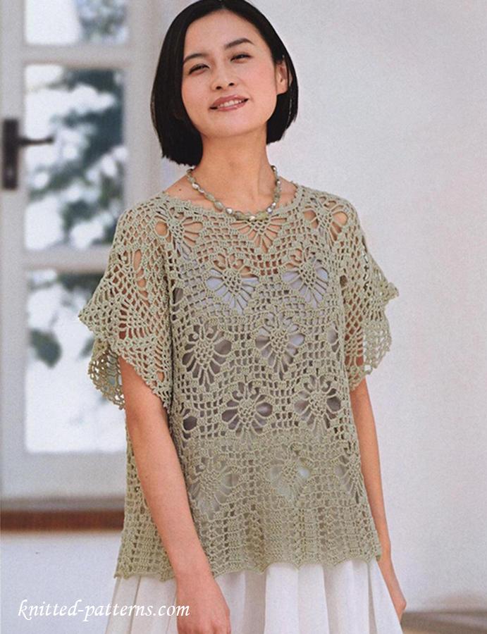 Summer Pullover Free Crochet Diagram