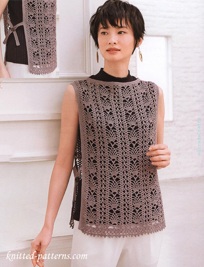 Lace Vest Free Crochet Diagram
