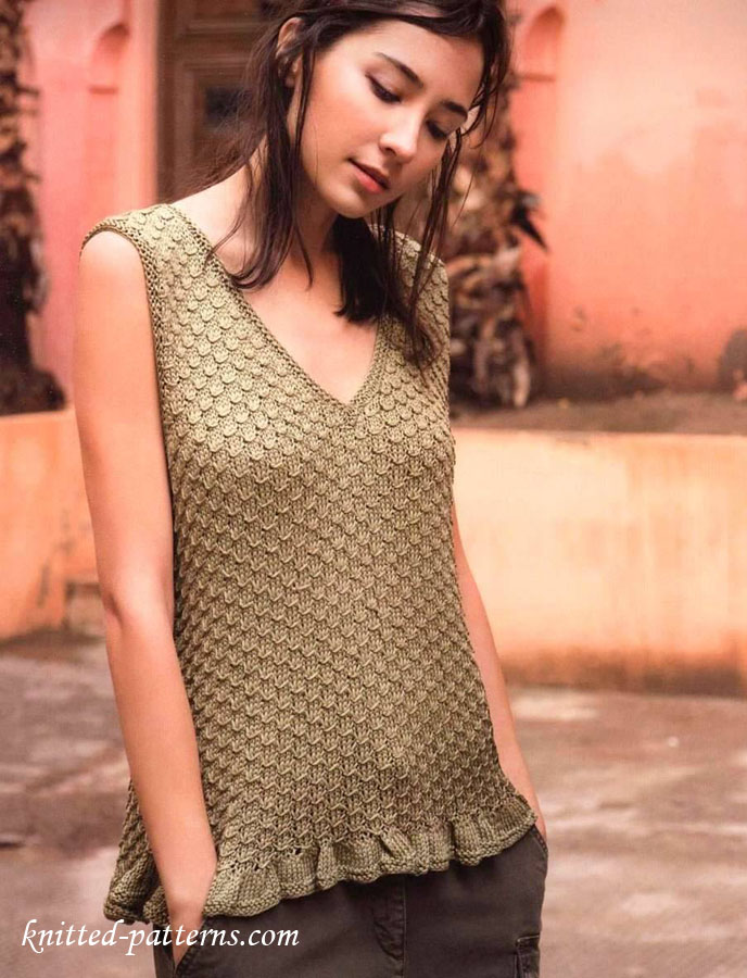 Free Knitting Pattern For Ladies Top