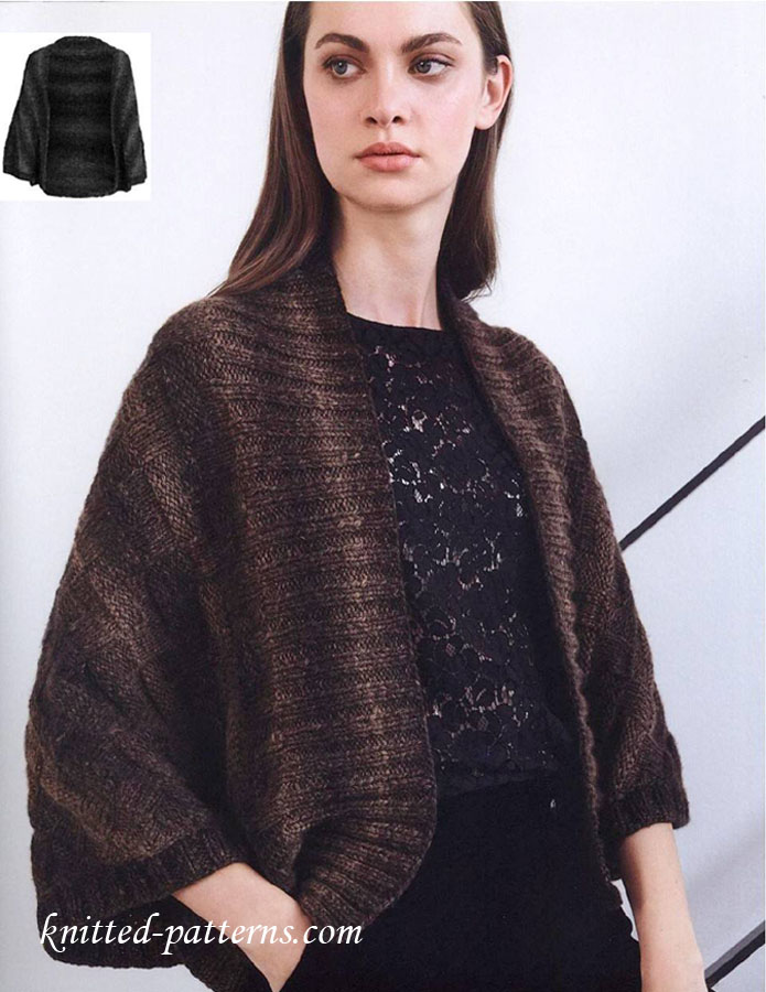 Autumn Bolero Knitting Pattern Free