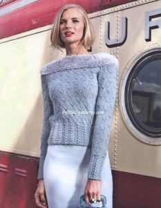 Pullover in bird tracks pattern