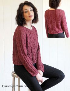 Lace chevron jumper