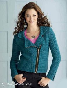 Crochet biker jacket free pattern