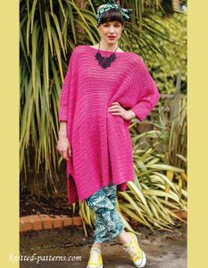 Oversized Crochet  Dress Free Pattern