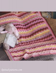 Lace baby blanket knitting pattern free