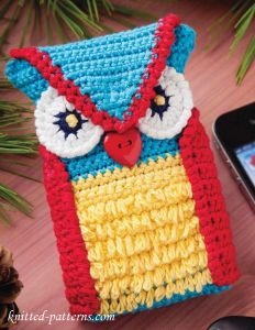Crochet Owl Phone Case  Free Pattern