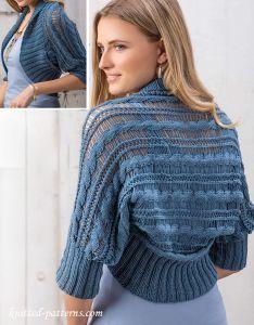 Summer shrug knitting pattern