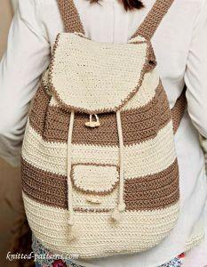Knit Backpack Pattern : Backpack crochet pattern